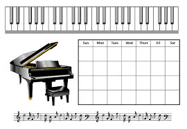 Piano Practice Chart Free Piano Practice Chart Customize Online Then Print At Home