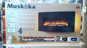 full image for curved wall mount electric fireplace chimney free costco black mounted