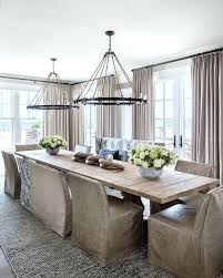 long dining table chandelier light salvaged wood trestle dining table with rope and iron ring chandeliers long dining table chandelier