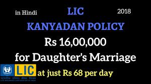 Lic Kanyadan Policy Details Hindi Policybazaar Blog Examples