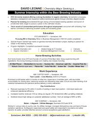 Internships Resume Examples Internship For College Students