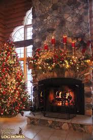 stunning log cabin round the fire