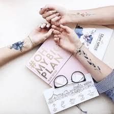 переводные татуировки Miami Tattoos набор акварельных тату Flower
