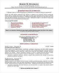 resume template electrician