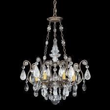 schonbek renaissance 6 light rock crystal chandelier