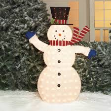 Holiday Time Light Up Led Fluffy Snowman Instructions
