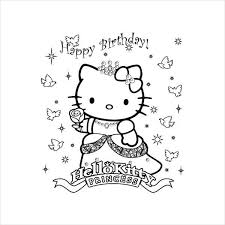 Printable hello kitty color plates, hello kitty color pages, hello kitty picture to color, hello kitty coloring sheet, free hello kitty sanrio coloring pages, hello kitty coloring book online, activity for kids. 9 Happy Birthday Coloring Pages Free Psd Jpg Gif Format Download Free Premium Templates