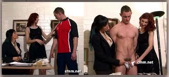 Girls learn how guys pee cfnm