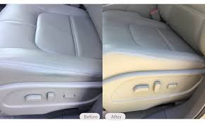 dye stain on leather car seat