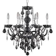 latest acrylic chandeliers inside hampton bay maria theresa 6 light chrome and red acrylic chandelier