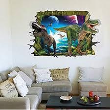 rrrljl 3d jurassic park dinosaur wall art decor home wall decal sticker for kids children room on 3d dinosaur wall art decor with amazon rrrljl 3d jurassic park dinosaur wall art decor home