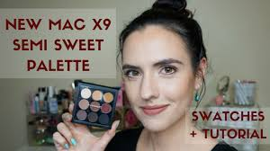 new eyes on mac times nine palette semi sweet swatches tutorial makeup