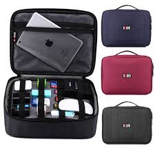 Cable Organizer Bag Business Bag for Electronic Accessories with a Storage  Board Power cord Line Case