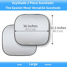 Windshield Size Chart Ezyshade Windshield Sun Shade Extra Item See Size Chart With Your Vehicle Easy Read Foldable 2 Piece Car Sunshades Reflect And Protect Your