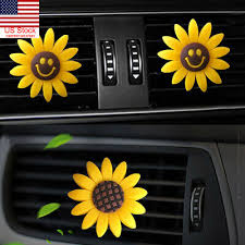Cute <b>Flower</b> Clip Freshener Multiflora <b>Sunflower Car</b> Air Outlet ...
