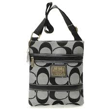 Coach Legacy Swingpack In Signature Small Grey Crossbody Bags AVA