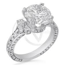 round cut cartier inspired antique vintage style diamond engagement ring r207