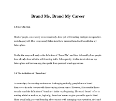 brand me what do people do self branding ideas university  document image preview