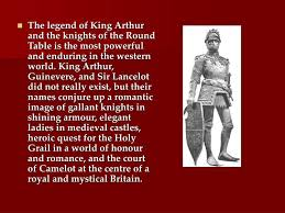 the legend of king arthur and the knights of the round table is