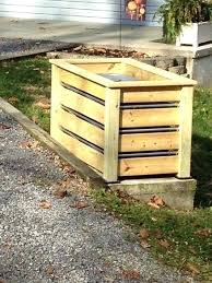 trash can holder wood outdoor plans