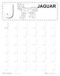 Letter J Tracing Worksheets Preschool Letter Tracing Worksheets ...