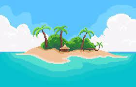 ArtStation - Island | PixelArt, Dangerous Zone