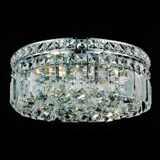 flush ceiling crystal chandeliers