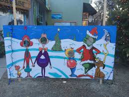 Whoville face board mural. Wade Works Studio by Trudy Wade. | Art, Mural,  Painting