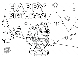 Free coloring pages to download and print. Printable Paw Patrol Happy Birthday Coloring Pages