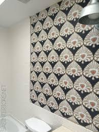 Bathroom Tile Wallpaper Bathroom Makeover Installing Wallpaper Day 17 Jenna Burger