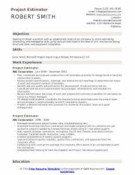 Construction Estimator Resume Sample Project Estimator Resume Samples Qwikresume