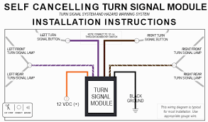 turn signal controller electronic delay and way  can work for mga 1600 will not work for mga 1500 the following diagram has color codes to match the mga 1600 wiring harness