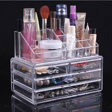 3 Drawers #Lipstick Holder# Cosmetic Organizer Case Makeup Transparent  Acrylic Box Acrylic Makeup Organizer