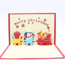 Gift Cards For Christmas Novelties Gift Idea 3d Cartoon Train Christmas Greeting Gift Card Lovely Paper Cut Purchase Gift Card Gift Voucher Cards From Hyperbole 4 73
