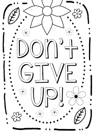 Free Coloring Page Growth Mindset Quote Coloring Pages