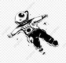 無料ダウンロードのための白黒宇宙飛行士 手描き 白黒 宇宙飛行士png画像素材