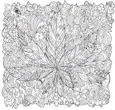 trippy mushroom coloring pages
