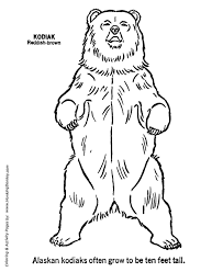 Small Picture Wild Animal Coloring Pages Kodiak bear standing up Coloring Page