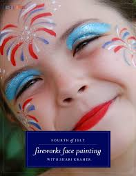 fireworks face painting tutorial cool progeny