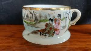 vintage ceramic porcelain tea cup teacup japanese painted