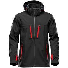 <b>Куртка софтшелл мужская</b> Patrol, черная с красным (артикул ...