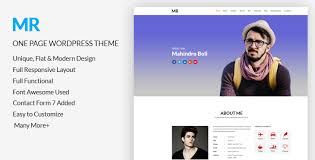 Mr Free Cv Resume One Page Wordpress Theme Codexcoder