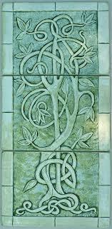 ceramic tile art tree. Modren Tree Celtic Sculpture  Tree Of Life Relief Carved Ceramic Tile Set By  Shannon Gresham Throughout Art I