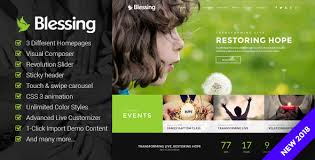 Free Church Website Templates Inspiration Blessing Responsive WordPress Theme For Church Websites By OceanThemes