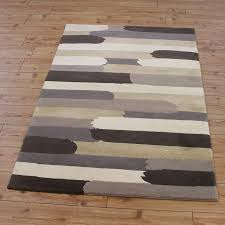 cream grey abstract stripes rug land of rugs grey and brown rugs uk
