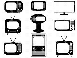retro tv clip art. silhouettes of retro and modern tv sets vector clipart tv clip art