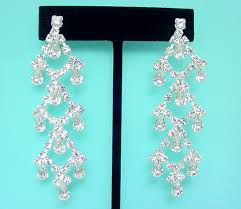 je40 crystal swarovski rhinestone chandelier earrings
