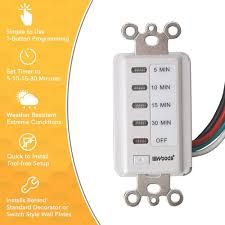 Set A Timer For 10 Minutes Woods 15 Amp 5 10 15 30 Minute In Wall Countdown Digital Timer Switch White