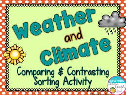 Differences Between Weather And Climate Venn Diagram Weather And Climate Comparing Contrasting Sorting Activity