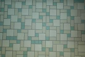 mosaic tile floor for a midcentury bathroom